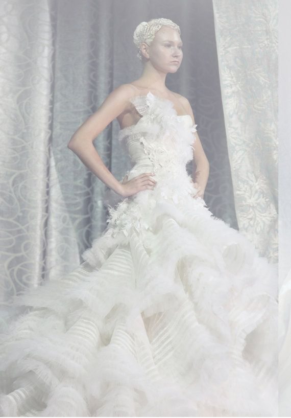 Katniss Everdeen MockingJay Wedding Dress Custom by SpindlyLobster, $750.00