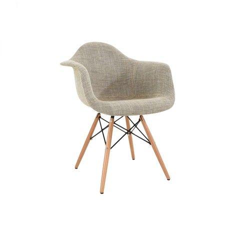 silln eames tapizado beige - Sillon Eames