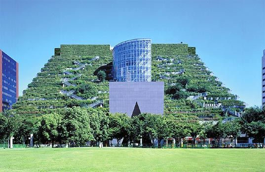 Pyramid architecture always catches our attention, and this gorgeous grass-clad example in Japan has us drooling - especially because it actually exists (not usually the case with these types of megastructures). Okay, you caught us - the building, called ACROS, isn't really a pyramid (it's more like a ziggurat), but whatever you call it, you can't deny the awe that its enormous terraced green roof inspires. Alive with 5,000 thriving plants representing 76 species, the mixed use structure…