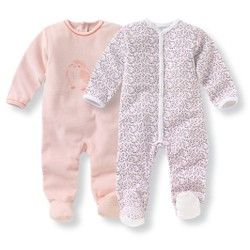 842999c4593 Pack of 2 Velour Sleepsuits, Birth-3 Years La Redoute Collections - Pyjamas