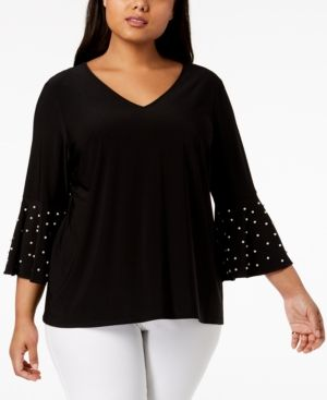 Women Clothing, Shoes & Jewelry MSK Womens Bell Sleeves Top