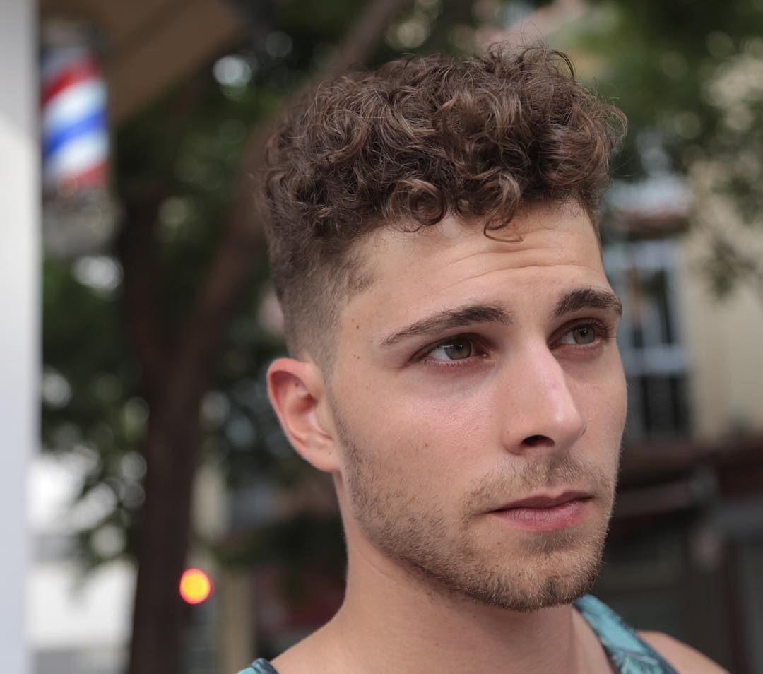 cool men hairstyle curly hair