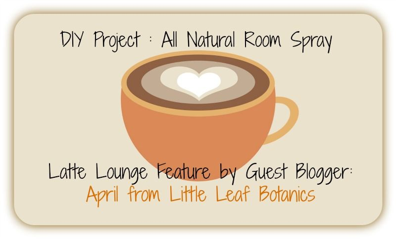 Craft Cafe: DIY Project : All Natural Room Spray by April from @Little Leaf Botanics
