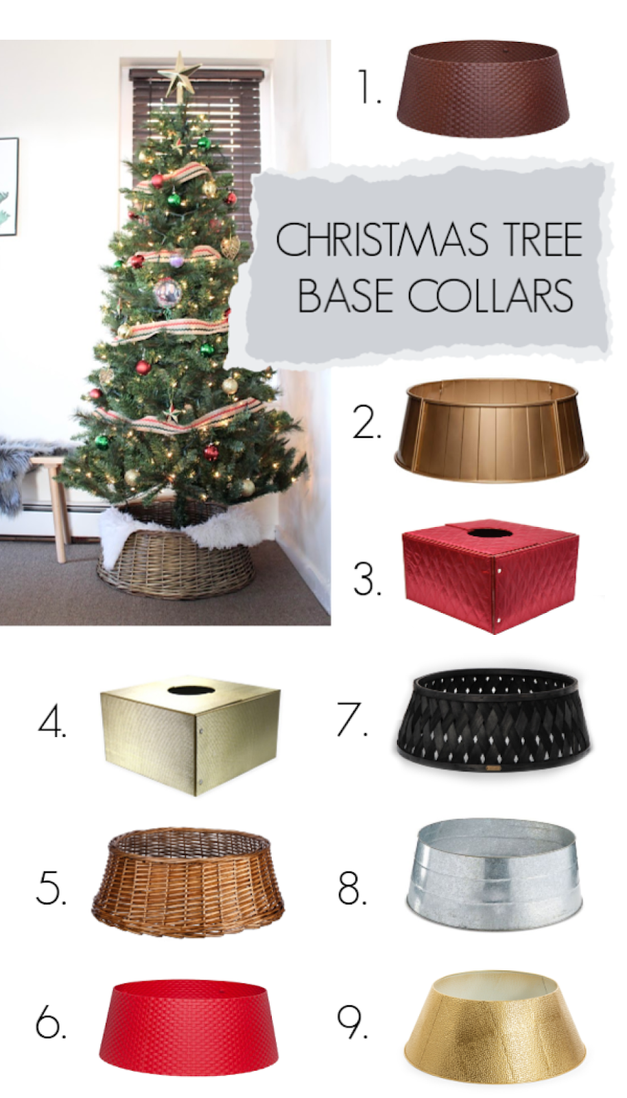 Guide To Christmas Tree Collars Christmas Tree Base Christmas