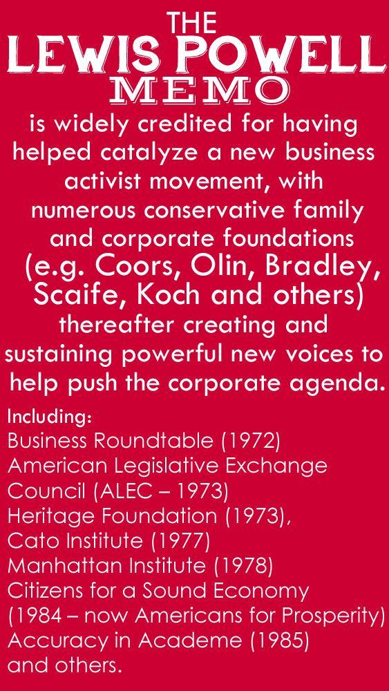 The lewis powell memo corporate blueprint to dominate democracy malvernweather Images