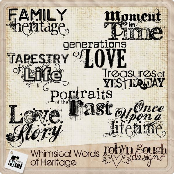 whimsical words of heritage by robyn gough on etsy
