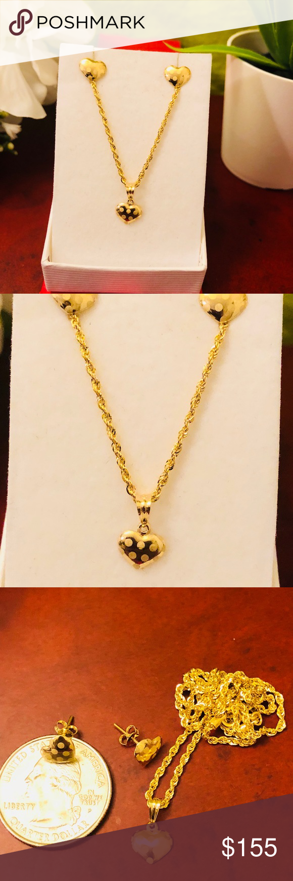 K real saudi gold heart set my posh closet pinterest gold