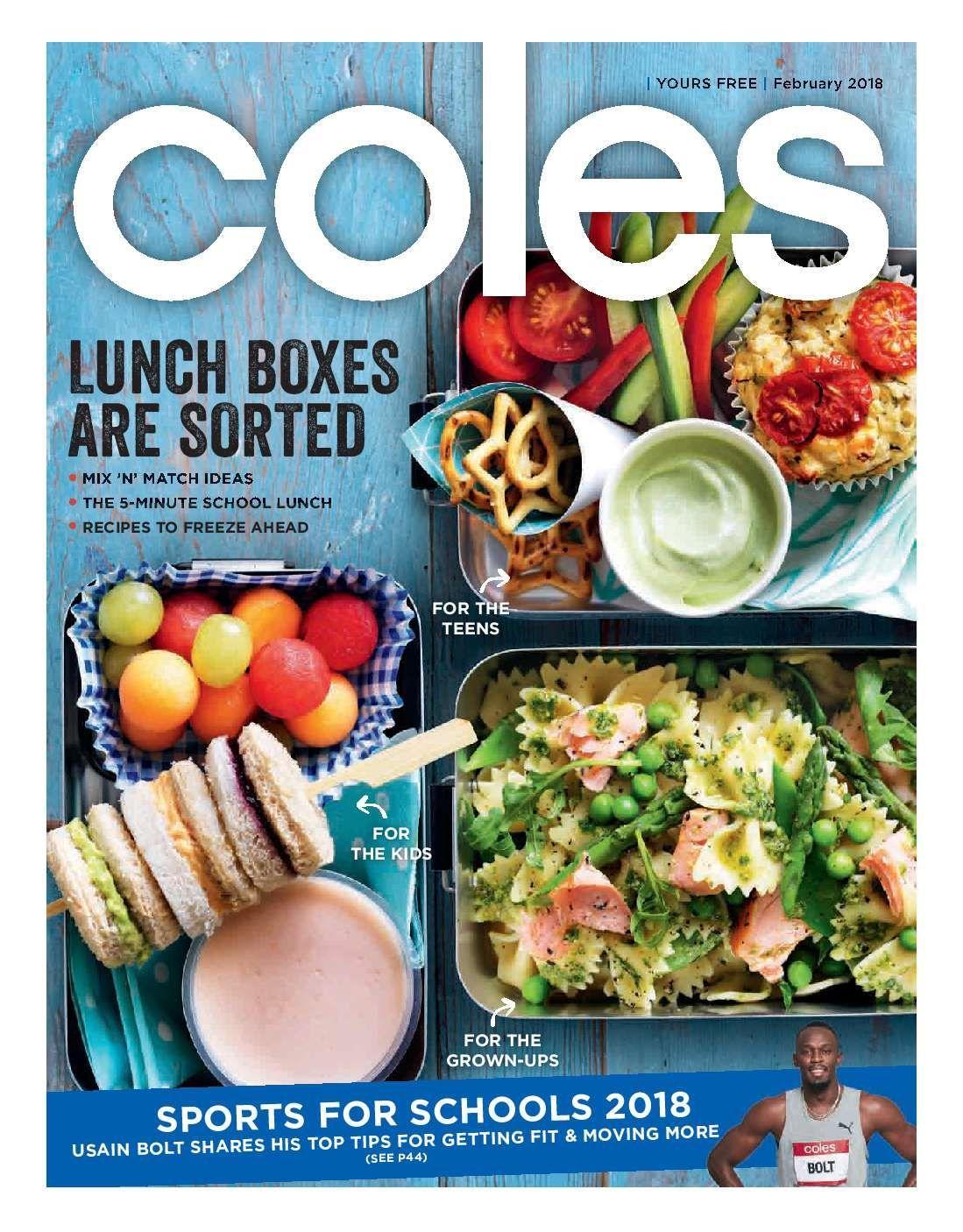 Coles Magazine February 2018 Http Olcatalogue Com Coles Coles Magazine Html School Lunch Recipes Coles Recipe Frozen Meals