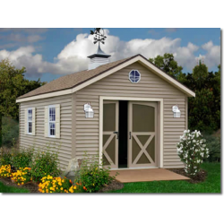 South Dakota 12x12 Vinyl Siding Wood Shed Kit Southdakota 1212 Wood Shed Kits Building A Shed Shed Kits