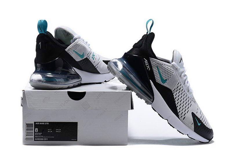 competitive price 2c344 d2243 Cheap Nike Air Max 270 Mesh Shoes White Jade Black