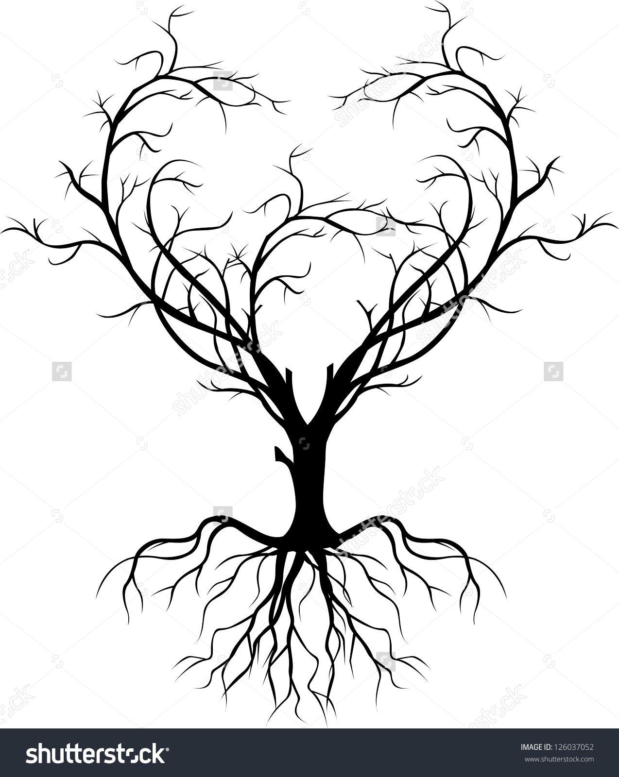 tree silhouette in 2020 Tree silhouette tattoo, Oak tree