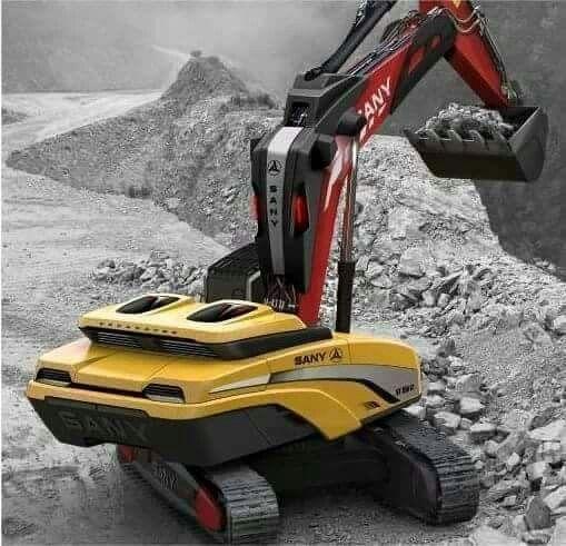 Sany concept excavator | Cool Toys & Concepts | Futuristic