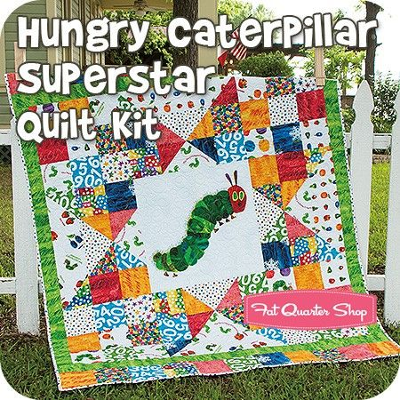 Hungry Caterpillar Superstar Quilt Kit<BR>Featuring The Very ... : eric carle quilt kits - Adamdwight.com
