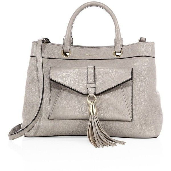 MILLY Astor Leather Tote (12 240 UAH) ❤ liked on Polyvore featuring bags, handbags, tote bags, apparel & accessories, tote handbags, genuine leather handbags, leather purses, leather totes and brown leather tote bag