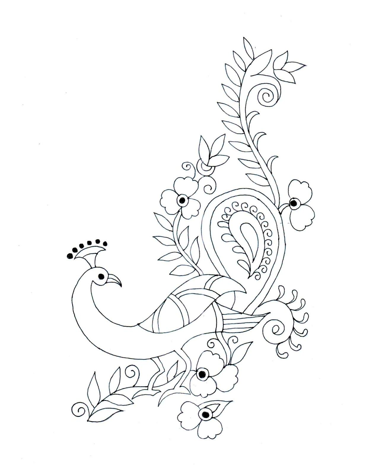 peacock embroidery patterns - Google Search