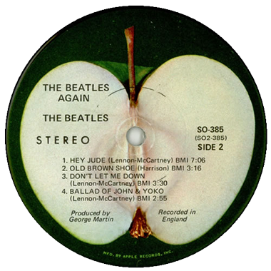 beatles record label The Beatles Hey Jude (record