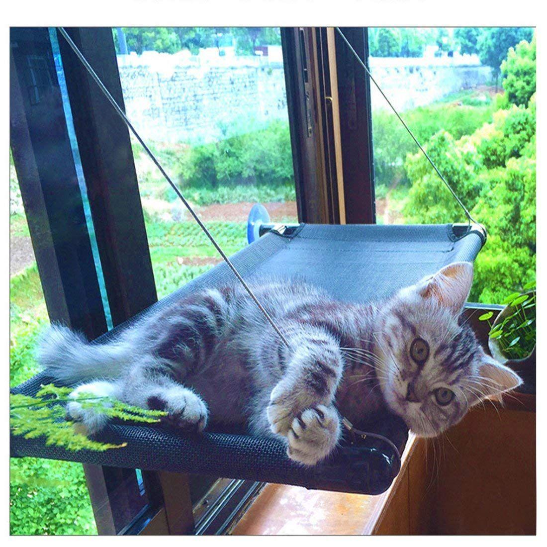 Cat Bed Window Hammock Perch Kitty Sunny Seat Cradle Mat Pet Perch Bedding Window Mounted Lounge Pet Nest Sofa Supplies He Cat Bed Cat Hammock Cat Window Perch