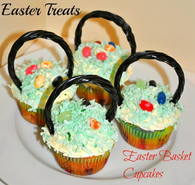easter treats for kids : basket cupcakes(15 delicious treat for kids on easter day!!!)
