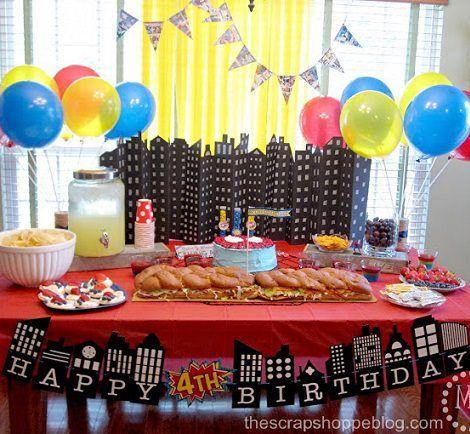 decoracin para una fiesta de cumpleaos de superhroes