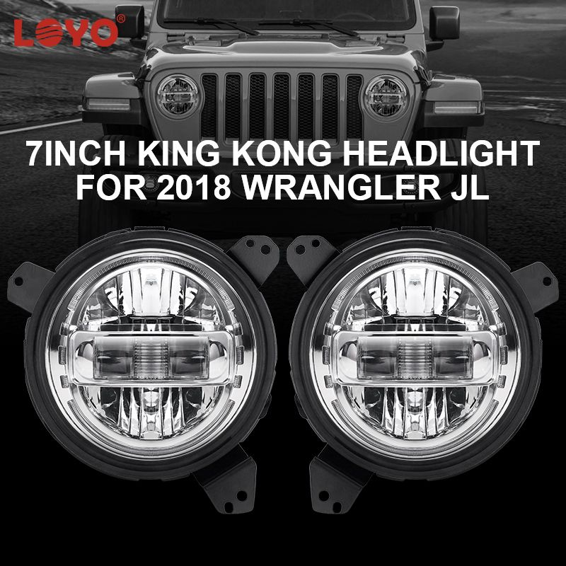 Loyo 7 King Kong Headlight Featured With Ip 67 Waterproof Long Lifespan Of More Than 50000 Hours Has High Beam Jeep Lights Led Driving Lights Wrangler Jl