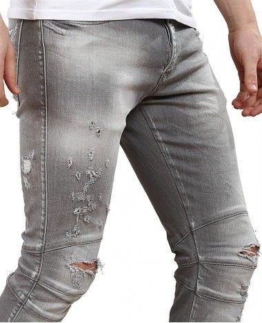 572ee5578c591 Red Bridge Herren Jeans Hose Slim Fit Röhrenjeans Skinny Pants Denim grau