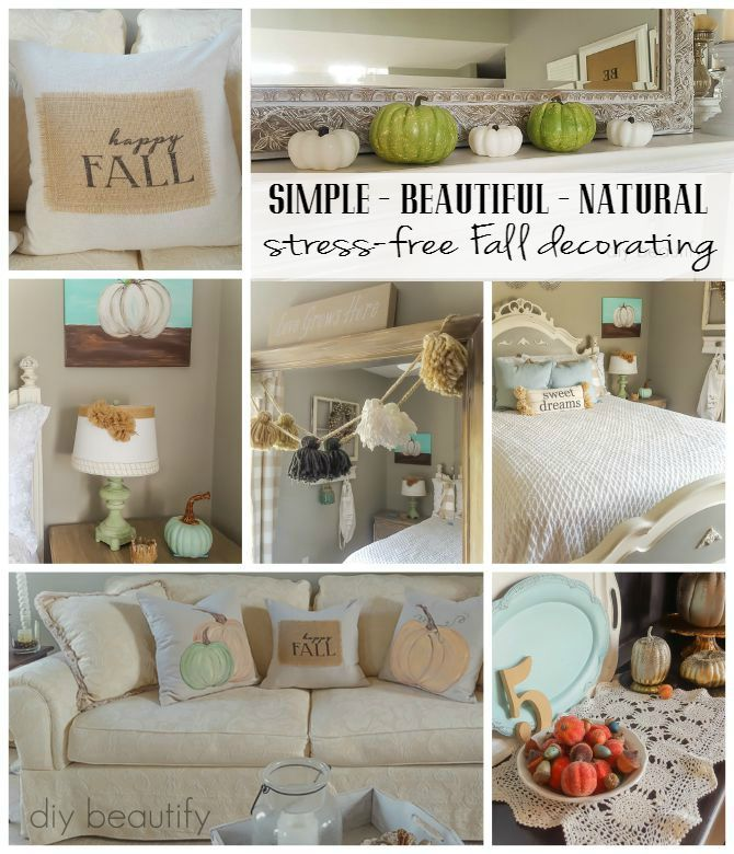 Stress-free fall decorating using natural elements and favorite things |  diy beautify
