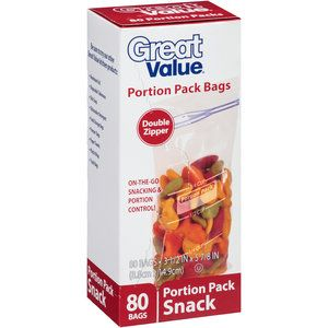 Great Value Portion Pack Snack Bags 80 Count Walmart