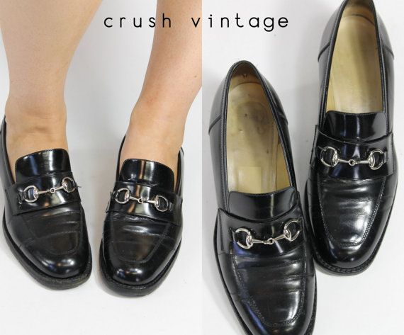 74ad886402787 80s Authentic Gucci Womens Loafers 6 5 / 1980s by CrushVintage ...