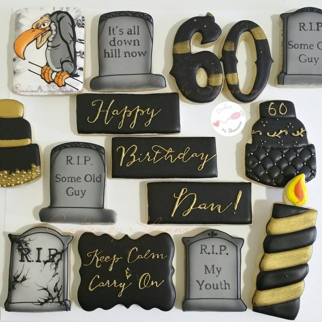 Over The Hill 60th Birthday Cookies. #overthehill