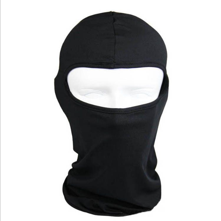 Thermal Synthetic Silk Black Balaclava Under Helmet Protection
