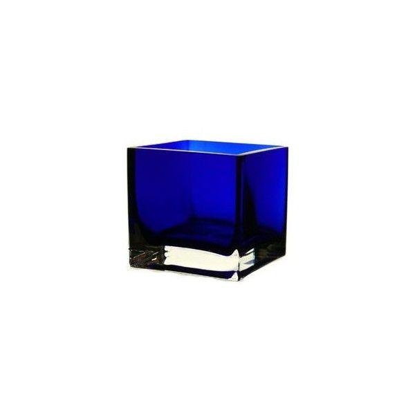 22 Cobalt Blue Square Vase Red White Blue Wedding Ideas