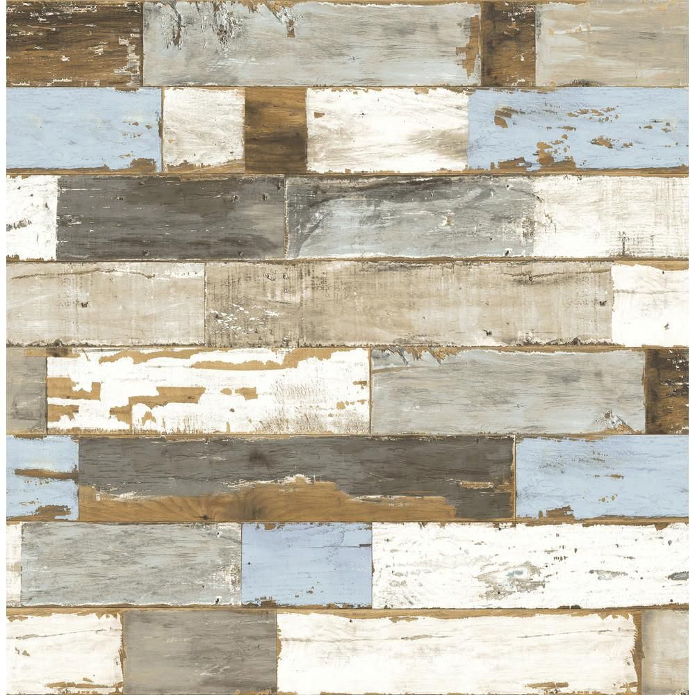 Nextwall Colorful Shiplap Vinyl Peelable Wallpaper Covers 30 75 Sq Ft Nw30700 The Home Depot Peelable Wallpaper Wood Wallpaper Ship Lap Walls
