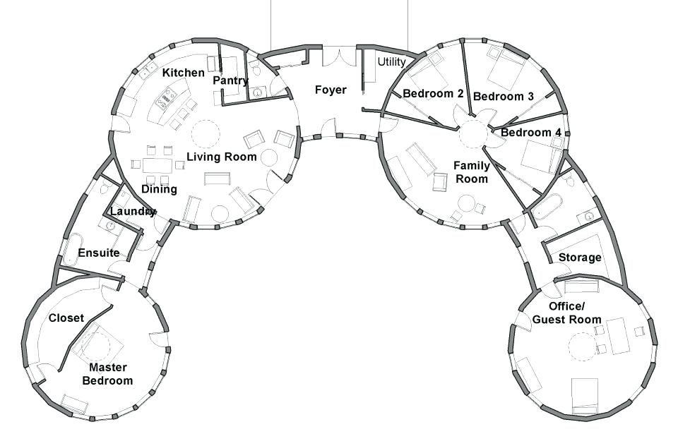 Mandala Homes Blueprint Round Home Floor Plans House Floor Plans Earth Bag Homes House Plans