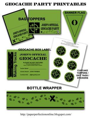 graphic relating to Official Geocache Printable known as Paper Perfection: Geocache Celebration Printables Bash Programs