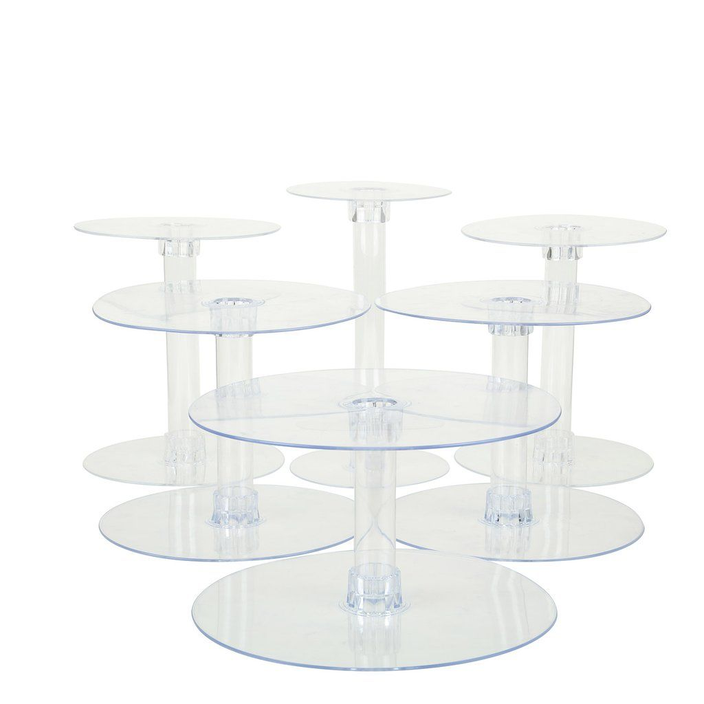 6 tier clear acrylic cupcake cake stand cake and cupcake