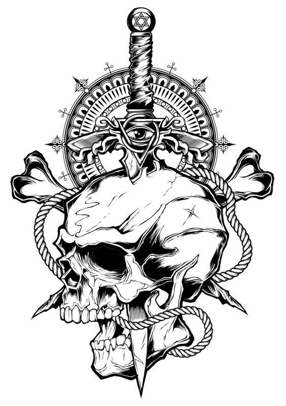 First illustration of 2014 by Shulyak Brothers | Skull ...