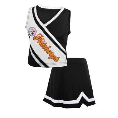 Hot Pittsburgh Steelers Toddler Girls Team Spirit 2 Piece Cheerleader