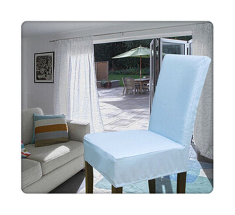 100PCS Spandex Surefit Short Dining Chair Cover/ Chair Covers For Sale/  White   Http