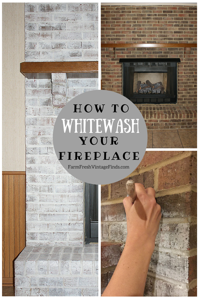 How to Whitewash Brick Farm Fresh Vintage Finds home corners