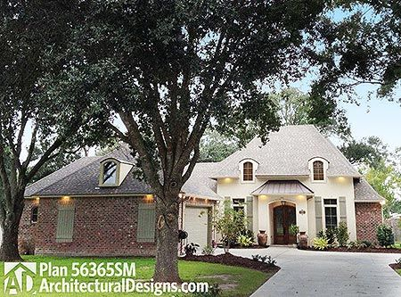 Plan 56365sm French Country House Plan With Master Hideaway French Country House French Country House Plans Acadian House Plans