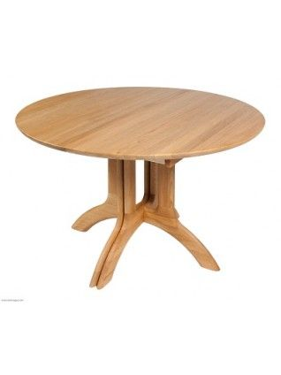 Extendable Round Dining Table - Oak
