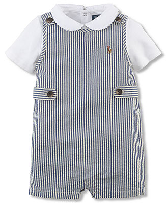 38b165bf627d Ralph Lauren Baby Boys  2-Piece Seersucker Shortall   Bodysuit Set ...