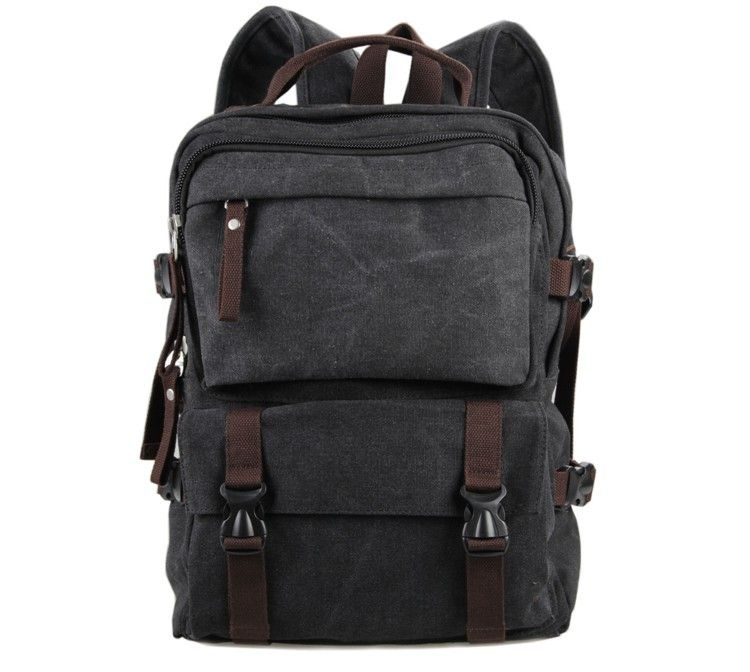 2016 canvas leather laptop backpack for men | Canvas Leather Mens ...