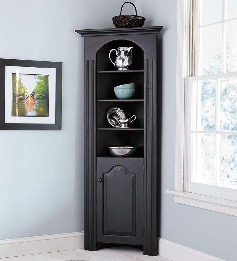Eine Moderne Ecke Curio Cabinet Kommode Moderne Ecke Curio