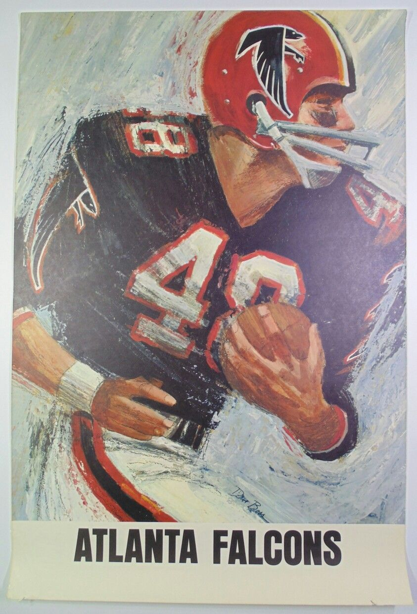 1966 Atlanta Falcons Poster Atlanta Falcons Art Football Art Atlanta Falcons Painting