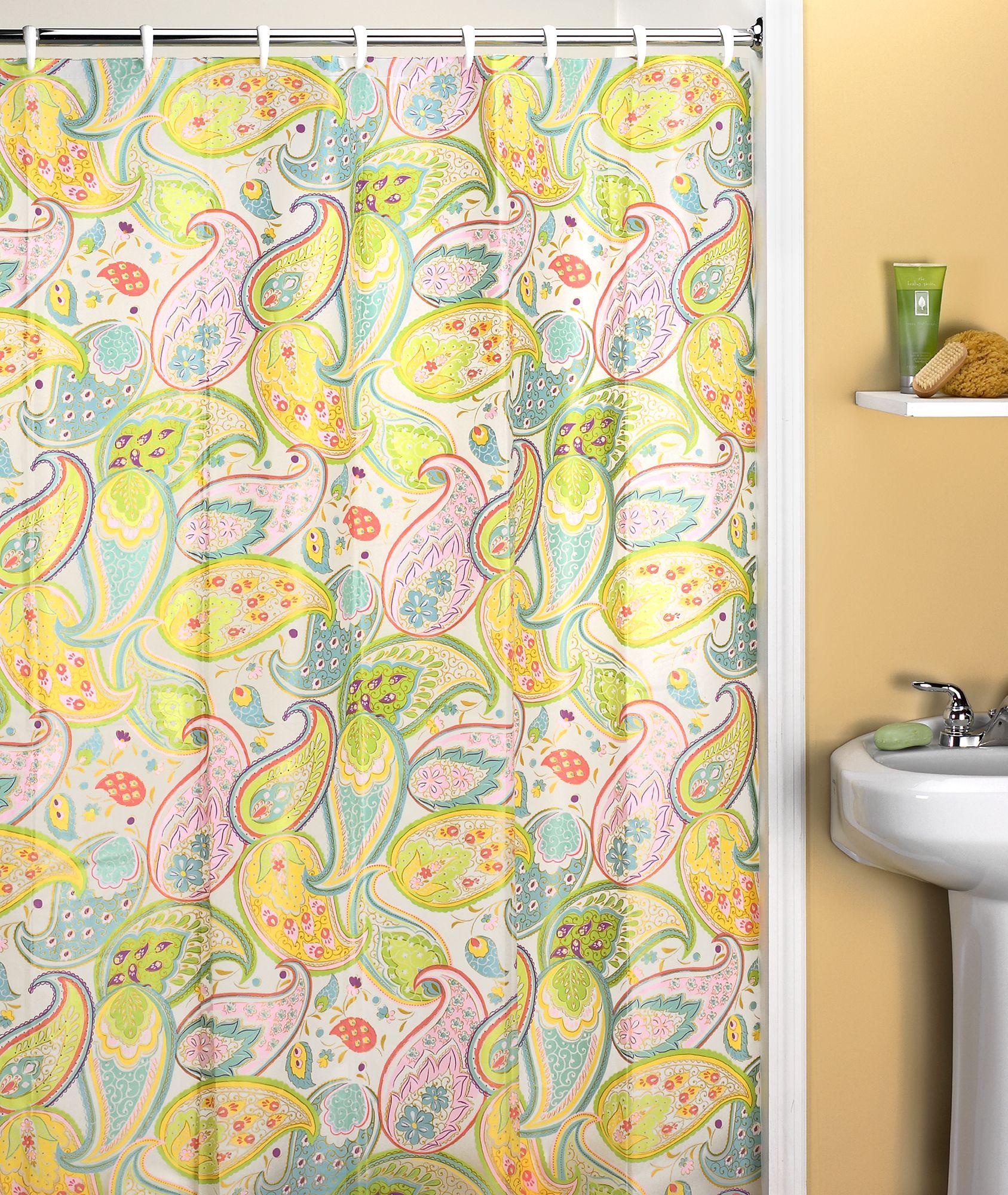 Ba bathroom curtains at sears - Creative Bath Cool Paisley Shower Curtain Multi