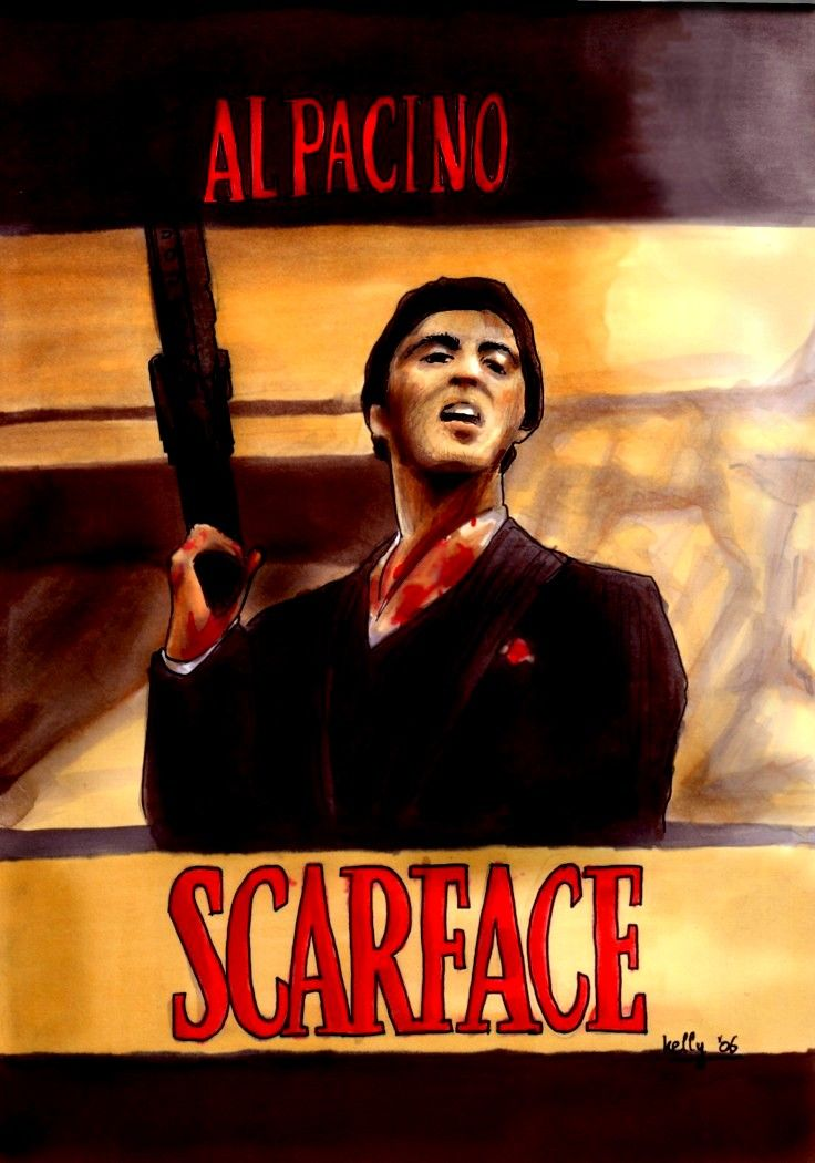 Scarface Al Pacino As Scarface Say Hello To My Little Friends Gangstermovie Gangsterflick Gangster Movies Scarface Movie Genres