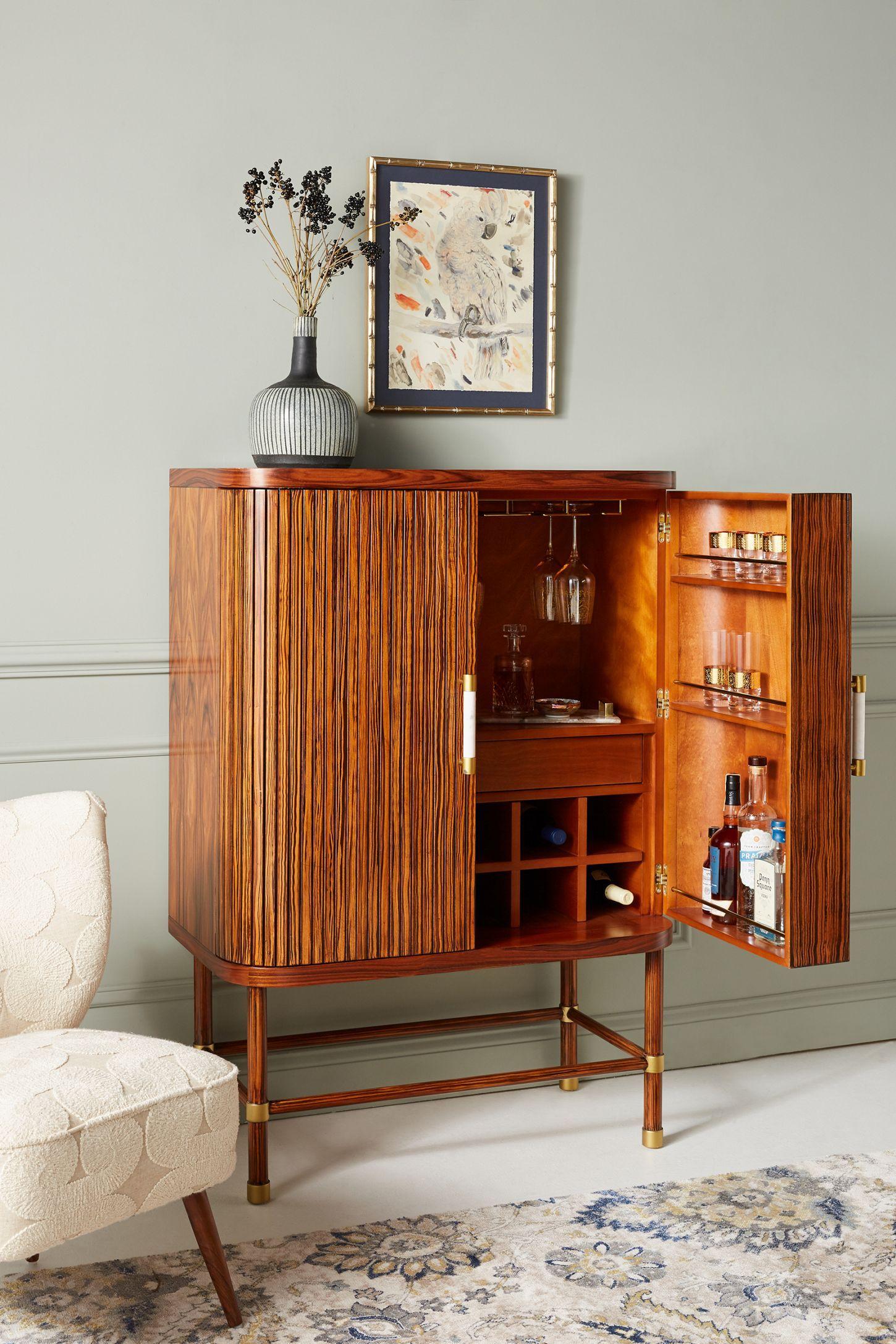 Deluxe Tamboured Bar Cabinet Retro Home Decor Retro Home Home Decor Styles