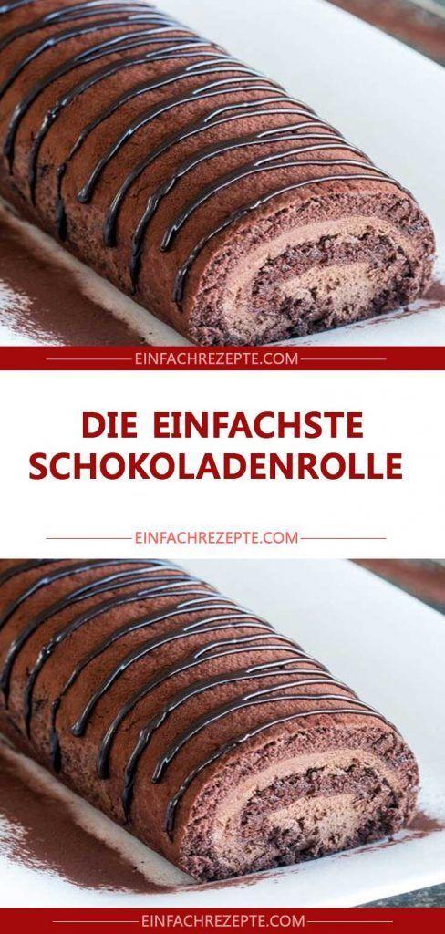 Die einfachste Schokoladenrolle 😍 😍 😍 – Kuchen und Torten