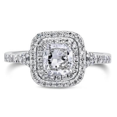 60020 jewelry 2 CT Cushion Cut D/SI1 Diamond Solitaire Engagement Ring 18k White Gold 258979  BUY IT NOW ONLY  $2075.0 2 CT Cushion Cut D/SI1 Diamond Solitaire Engagement Ring 18k White Gold 258979...
